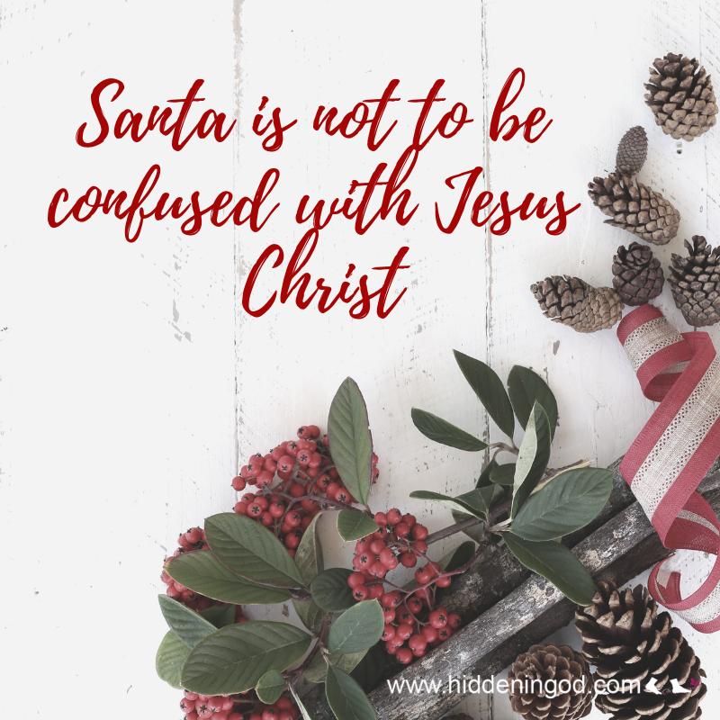 Distinguishing Santa Claus from Jesus Christ