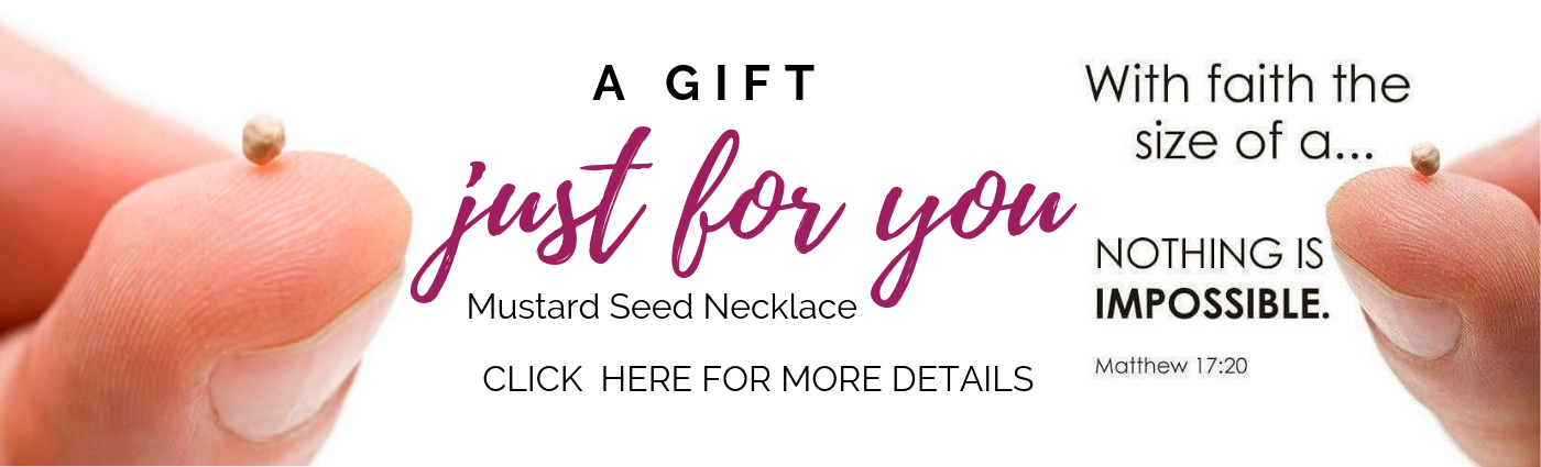 Mustard Seed Necklace Banner
