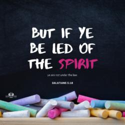 Galatians 5:18