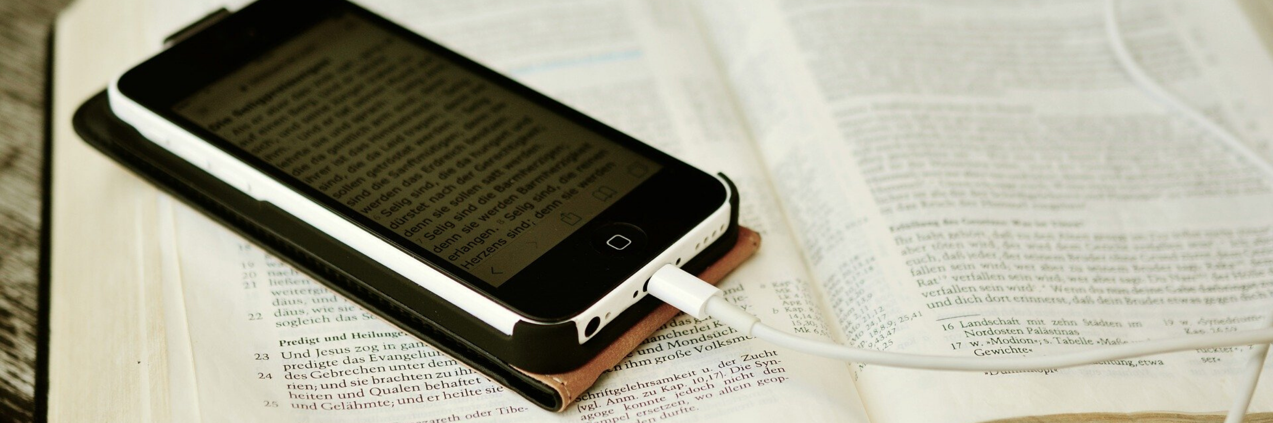 Iphone on top of bible